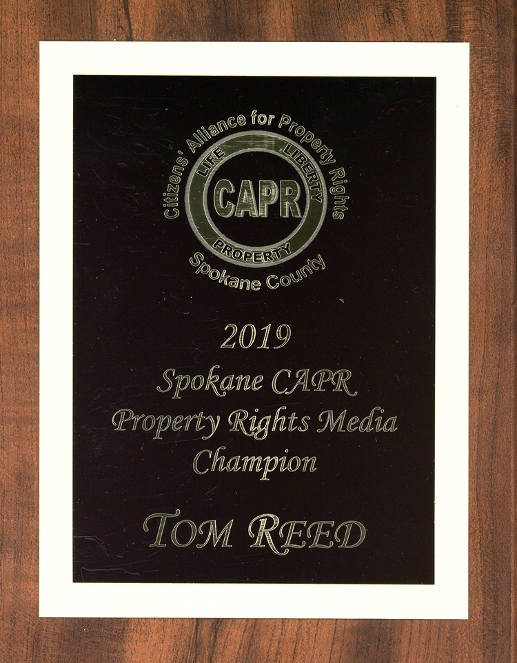 CARP Award To Tom Read